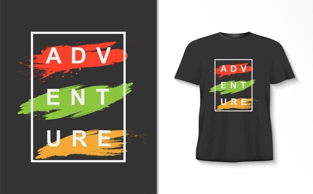 Avontuur typografie tshirt