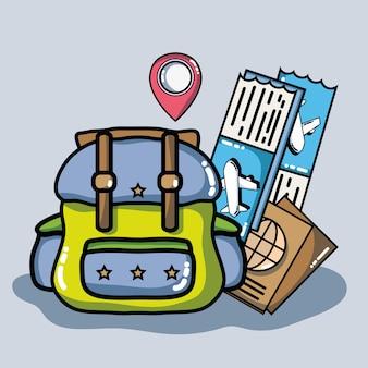 Avontuurlijke bestemming reizen naar vakantietoerisme