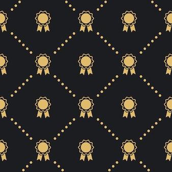 Award badge naadloze patroon. ontwerp vintage achtergrondstijl.