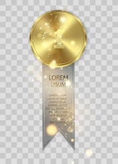 Award medailles geïsoleerd op transparante achtergrond. winnaar concept.