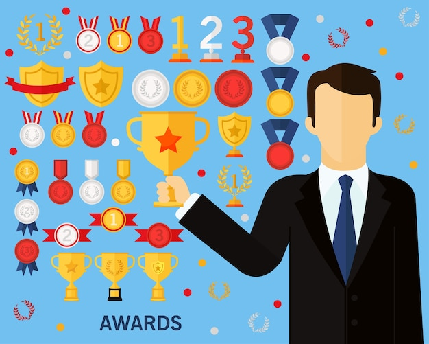Awards concept achtergrond