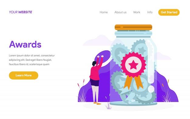 Awards illustratie concept