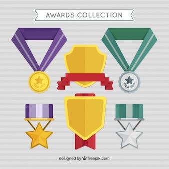Awards in plat design met kleuren informatie