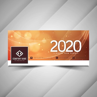 Awesome 2020 nieuwjaar facebook cover