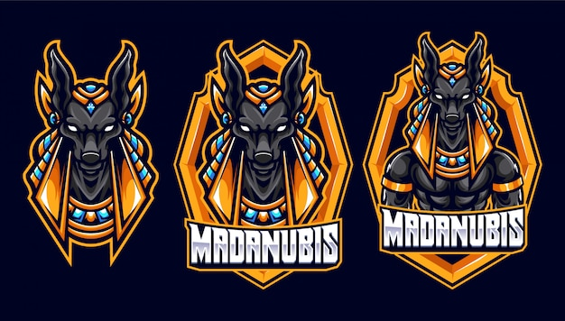 Awesome anubis sport en esport logo-sjabloon