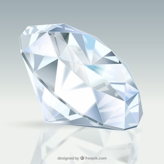 Awesome diamant in realistische ontwerp