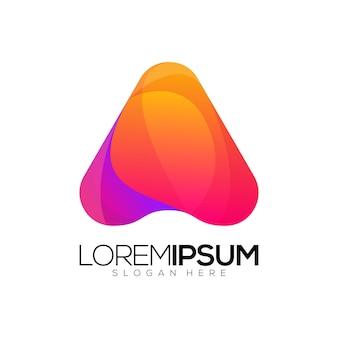 Awesome driehoek gradiënt logo ontwerp vector