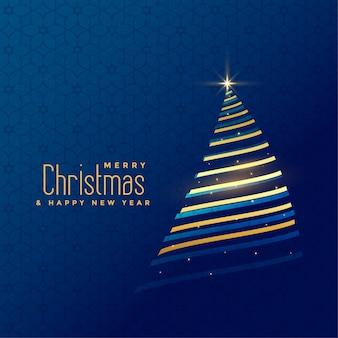 Awesome gouden lijn kerstboom achtergrond