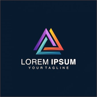 Awesome gradient triangle-logo