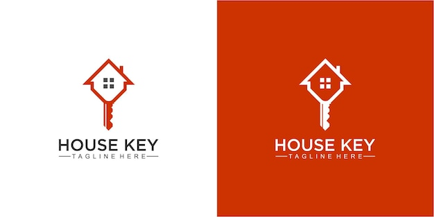 Awesome house and key logo-ontwerpinspiratie