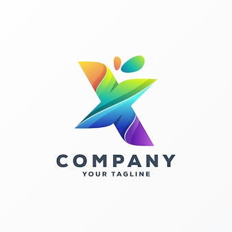 Awesome letter x logo ontwerp vector