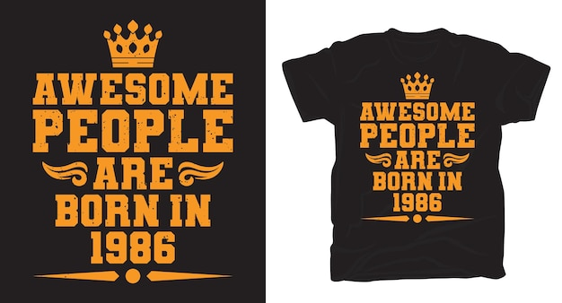 Awesome mensen typografie t-shirt design