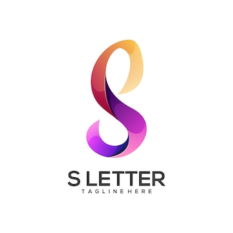 Awesome s brief logo kleurrijke abstract