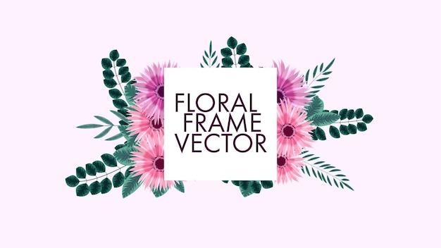 Awesome vintage label van kleur bloemen frames in gedetailleerde stijl voor wenskaarten bruiloft