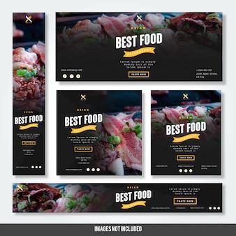Aziatisch beste voedselrestaurant met banners