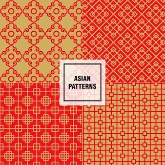 Aziatische abstracte vormen patronen
