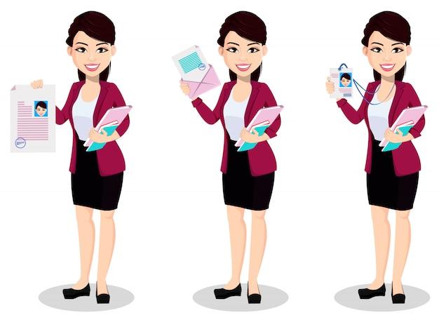 Aziatische bedrijfsvrouw in bureaukleren