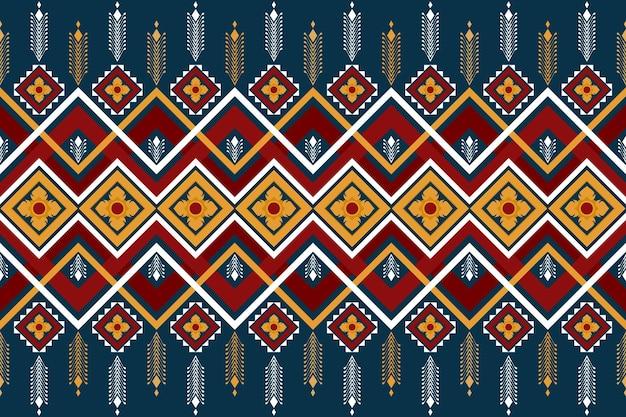 Aziatische bloemen vintage etnische geometrische oosterse naadloze traditionele patroon. ontwerp voor achtergrond, tapijt, behangachtergrond, kleding, inwikkeling, batik, stof. borduurstijl. vector.