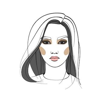Aziatische vrouw met lang haar