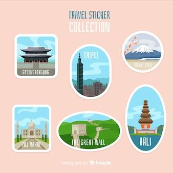 Azië sticker collectie