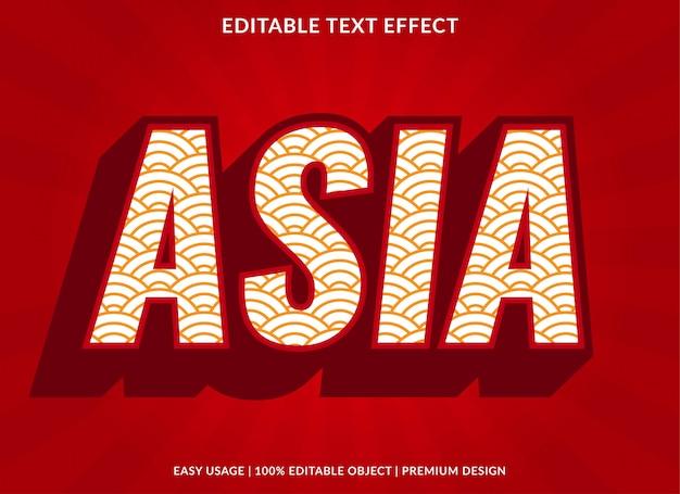 Azië teksteffect sjabloon met gewaagde stijl