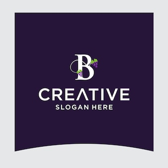 B druif logo ontwerp