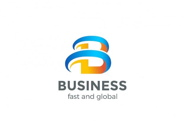 B logo briefsjabloon abstract ontwerp. creatief symbool. universe-logo voor opstarten van bedrijfstechnologie.