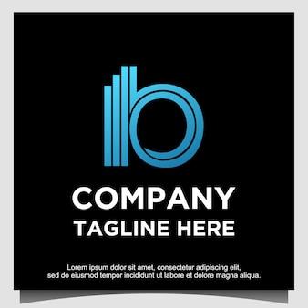 B-logo ontwerpsjabloon
