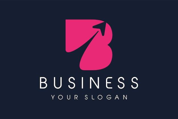 B-logo pijl. letter b design vector illustratie moderne icoon.