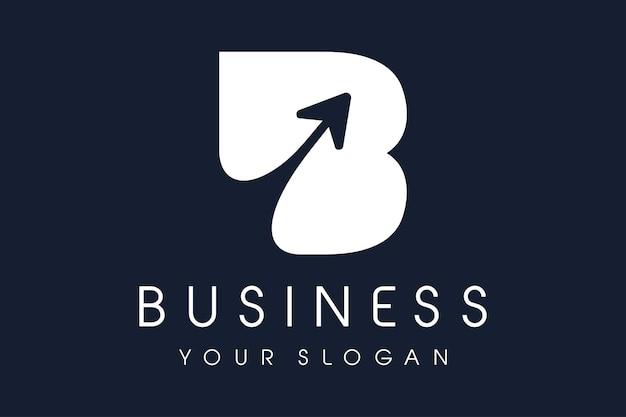 B-logo pijl. letter b ontwerp vectorillustratie.