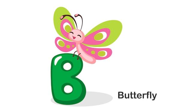 B voor butterfly