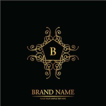 B woord bruiloft logo op zwart