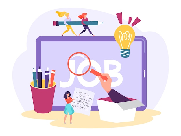 Baan zoeken concept. idee van werkgelegenheid en rekrutering