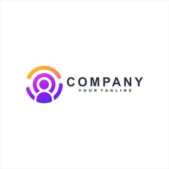 Baan zoeken kleurovergang logo sjabloon