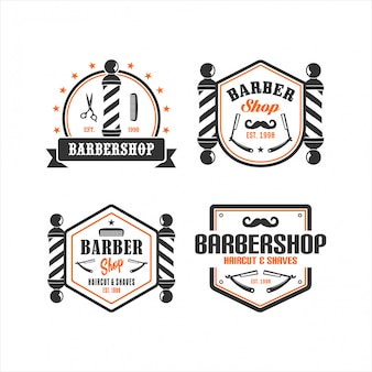 Babershop vintage logo collecties