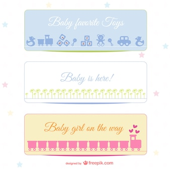 Baby-banners set