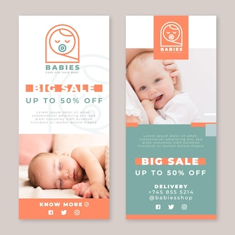 Baby banners sjabloon