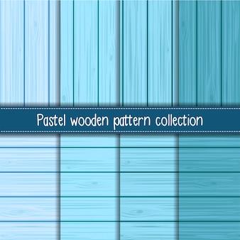 Baby blauw kleurverloop van shabby chic houten naadloze patronen