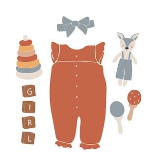 Baby boho-kleding, abstract boho-speelgoed, schattig minimaal speelgoed voor kinderen
