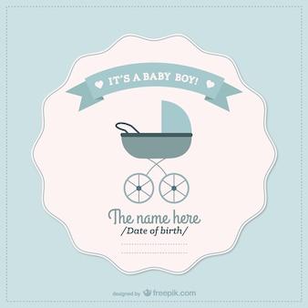 Baby boy aankondiging kaart