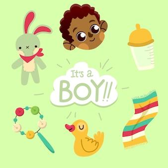 Baby boy douche concept
