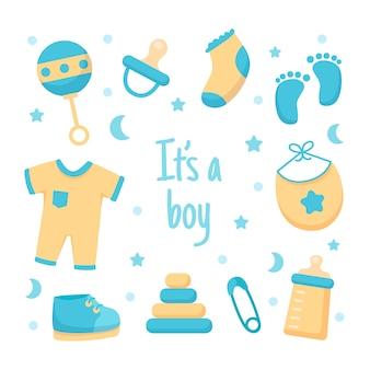Baby boy douche stijl