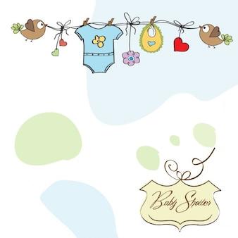 Baby boy shower card template