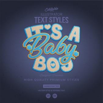 Baby boy tekststijl