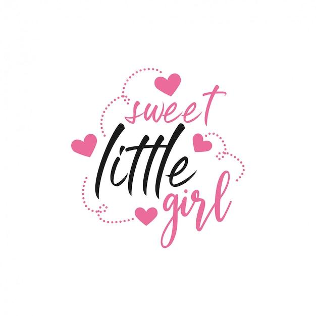 Baby citaat belettering typografie