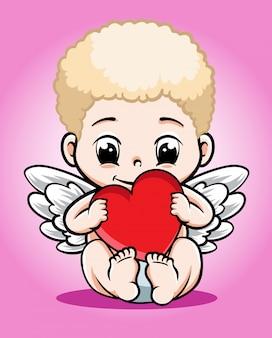 Baby cupid vector