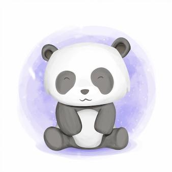 Baby dier schattige panda glimlach