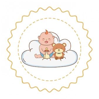 Baby douche illustratie