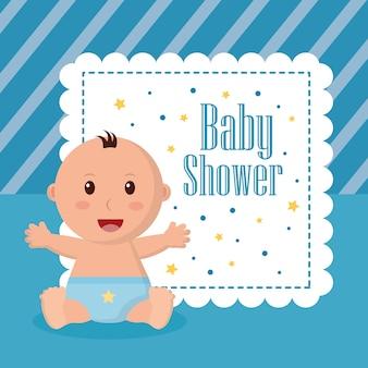 Baby douche jongen