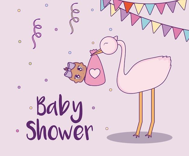 Baby douche ontwerp vector ilustration pictogram baby meisjes
